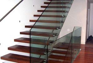 лестничные перила из стекла
