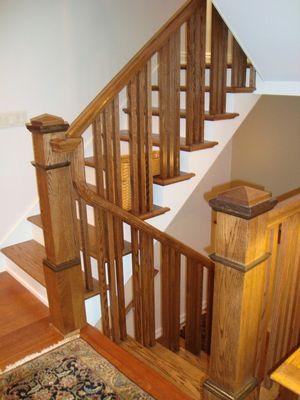 Купить перила для лестницы деревянные в минске